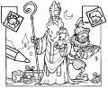 Kleurplaat Sinterklaas