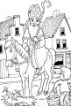 Kleurplaat Sinterklaas en de Schimmel >> Kleurplaat Sinterklaas en de Schimmel