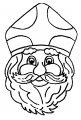 Het hoofd van Sinterklaas >> Kleurplaat Het hoofd van Sinterklaas