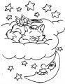 Kleurplaat slapende kerst engel >> Slapende kerst engel kleurplaat