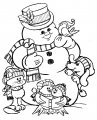 Kleurplaat Sneeuwman >> Kleurplaat Sneeuwman
