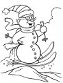 Kleurplaat Sneeuwman>> Kleurplaat Sneeuwman