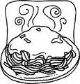 Kleurplaat Spaghetti>> Kleurplaat Spaghetti