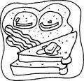 Kleurplaat Toast >> Kleurplaat Toast