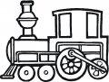Kleurplaatg Locomotief