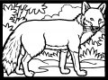 Kleurplaat Vos>> Kleurplaat vos in het bos