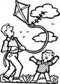 Kleurplaat Vliegeren>> Kleurplaat Vliegeren
