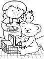 Kleurplaat Picknicken >> Kleurplaat Picknicken