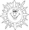Kleurplaat van de Zon