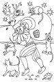 Kleurplaat Zwarte Piet