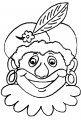 Zwarte Piet Kleurplaat >> Zwarte Piet Kleurplaat