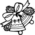Kleurplaat Kerst Klok>> Kleurplaat Kerst Klok