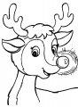 Rudolf Kleurplaat >> Rudolf het rendier