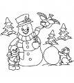 Sneeuwpop Kleurplaat