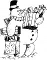 Frosty Kleurplaat
